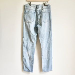 BlankNYC High Rise Tapered Light Mom Jeans 28